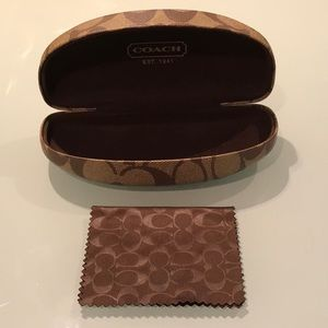 Authentic Coach sunglass case with handkerchief